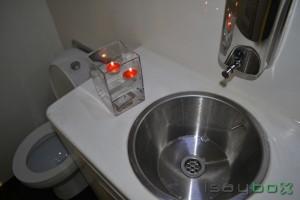 Vista interior de baño de lujo